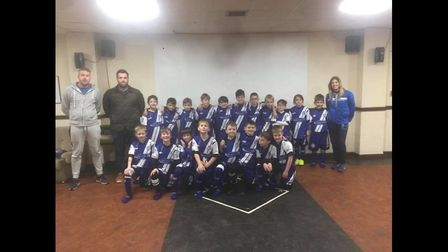 The Ottery St Mary Under-9s.Picture: OSMFC