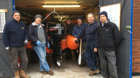 Peter Rosenfeld and Andy Mitchell from Sidmouth Lifeboat, and Chris Clapp, Simon White, Ady Moreton