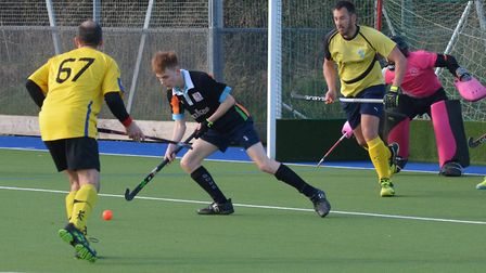Action from Sidmouth and Ottery Hocley Club men's second team vs East Devon. Picture: Andrew Coley