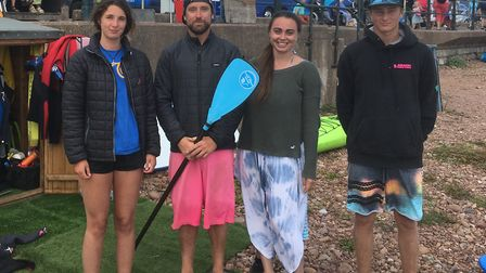 Maddie Todd, Guy Russell, Livi Mclennan and Josh Roberts at Jurassic Paddle Sports. Picture: Archant