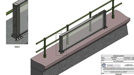 The glass panel which will be installed on Sidmouth seafront for a test. Picture: East Devon Distric