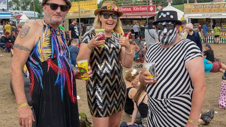 Fancy dress at Beautiful Days 2019. Picture: Cliff Smith