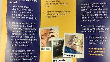 Advice on what to do if targeted by fraudsters. Picture: Philippa Davies