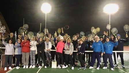 The players who took part in the Sidmouth Tennis Club Triples competition. Picture STC