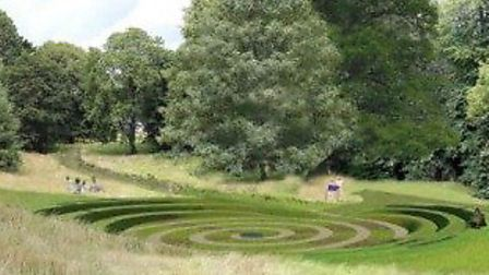 An artist's impression of the proposed amphitheatre. Picture: Devon County Council