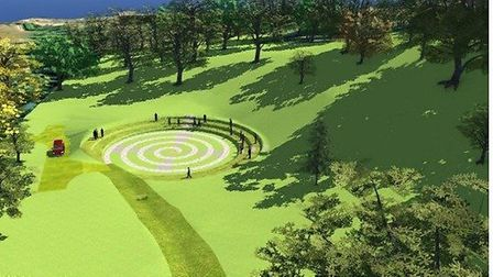 How the proposed amphitheatre would look from a distance. Picture; Devon County Council