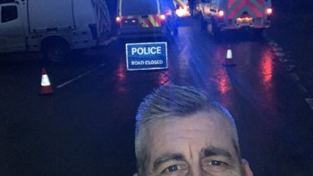 PCSO Steve Trail at the scene of the incident. Picture: Ottery St Mary police