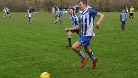 Finn Upsher in action against Crediton. Picture: Stephen Upsher