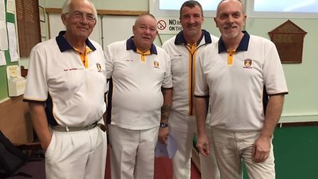 The top rink for Sidmouth in the InterClub success over Dawlish. Picture: SBC
