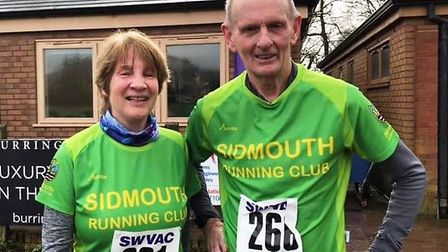 Ann Cole and John Sharples before the start of the South West Veterans Championships. Picture: SRC