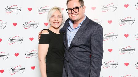 Harriet Steptoe with Alan Carr at the awards. Picture: Slimming World