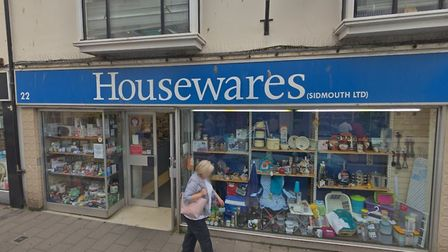 Plans to build seven homes above Housewares in Fore Street, Sidmouth, have been refused. Picture: Go