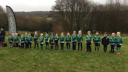 Sidmouth Under-7s who enjoyed ther latest action which was against Honiton U7s. Picture: SRFC
