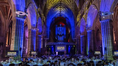 Spectacular lighting inside Exeter Cathedral. Picture: Rob Coombe