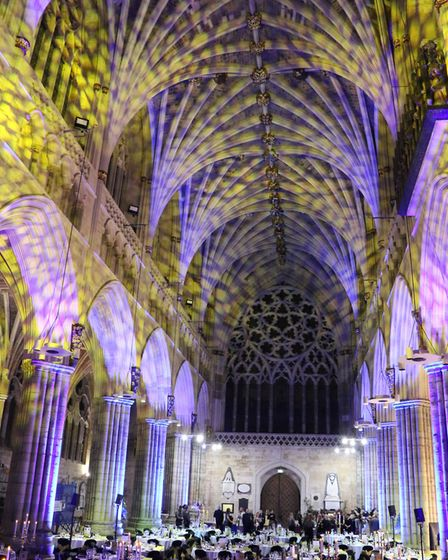 Stunning lighting effects transformed Exeter Cathedral. Picture: Rob Coombe