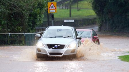 More flooding is possible, as with Storm Dennis in Sidmouth. Ref shs 08 20TI 8551. Picture: Terry I