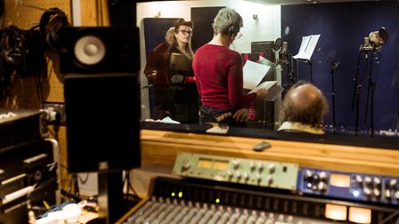 Recording the playat The Sound Studio, Exeter. Picture: Sarah Daisy Hall