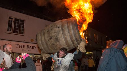 Wet weather for the 2019 tar barrels meant some car parks had to close. Picture: Alex Walton Photogr