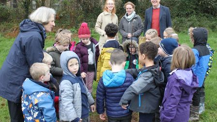 Children help plant a new Community Orchard at Stowford Picture: Ed Dolphin