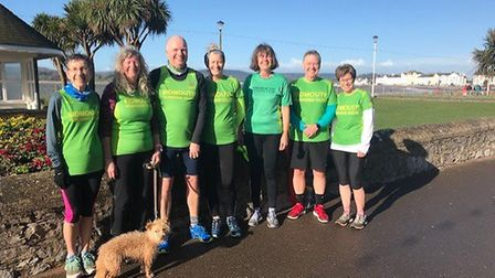 The Sidmouth Running Club group that took part in the Exmouth Leap Year Parkrun. Picture: JULIA HADD