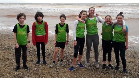Sidmouth Running Club juniors at the jacobs ladder meeting. Picture: CLAIRE ASHBY