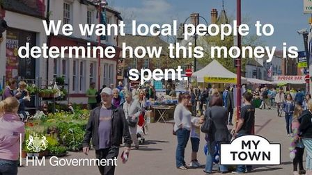 A promotion for the government's 'My Town' scheme. Photograph: Government.