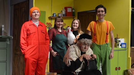 The cast of Axminster Drama Club's production of George's Marvellous Medicine. Picture: Andrew Coley