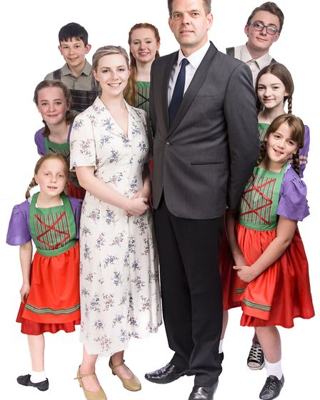 The Von Trapp family in Honiton Community Theatre Company's production of The Sound of Music. Pictur