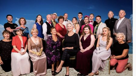 Members of the cast for Axminster Musical Theatre's production of Dirty Rotten Scoundrels. Picture: