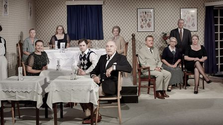 The whole cast of Separate Tables by the Exmouth Players Picture: Alix Kelman