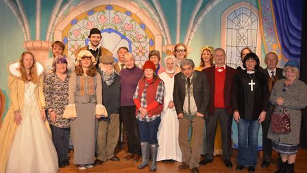 The cast of Axminster Drama Club's productions of The Vicar of Dibley and Blackadder II.