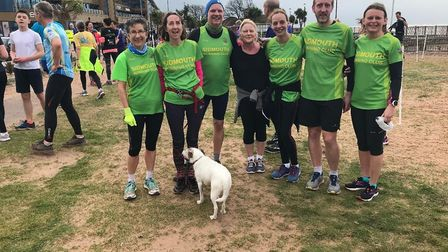Sidmouth Running Club members at the latest Exmouth Parkrun. Picture SRC