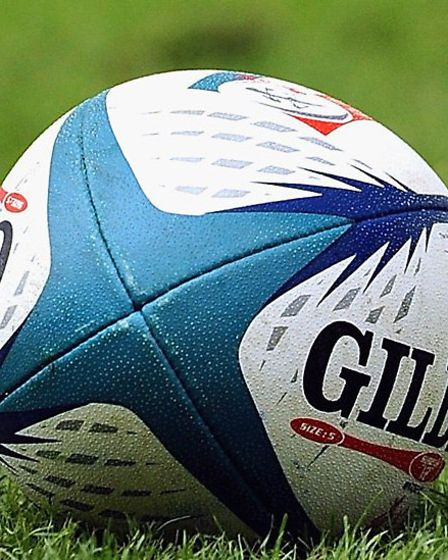 Rugby ball.