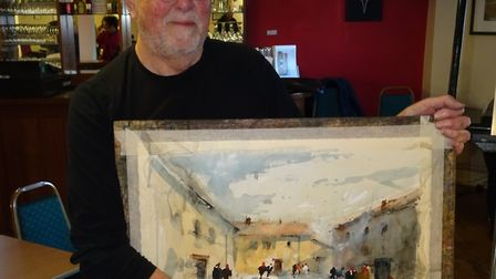 Watercolour painter David Norman. Picture: Sidmouth Society of Artists
