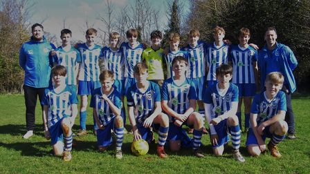 The Ottery St Mary Under-14s after their Devon Cup quarter-final victory over Ivybridge. Picture: ST
