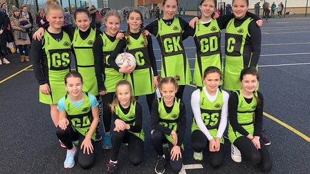 Sidmouth Netball Club Under-11s. Picture: SNC