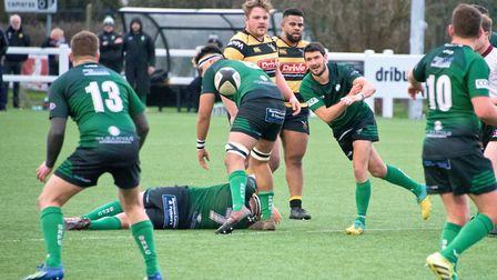 SIdmouth RFC in action during their away match to Hornets in Weston-super-Mare. Picture: MARK