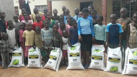 Food supplied to an orphanage at Choma, Southern Zambia.