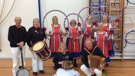 The Sidmouth Steppers visited Newton Poppleford Primary School. Picture: Sidmouth Steppers