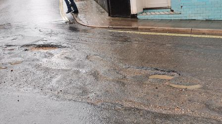 The problem potholes in Ottery. Picture: Jim Moon