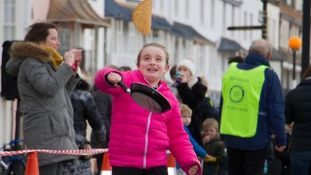 Sid Valley Rotary Club's pancake races Ref shs 08 20TI 8790 Picture: Terry Ife