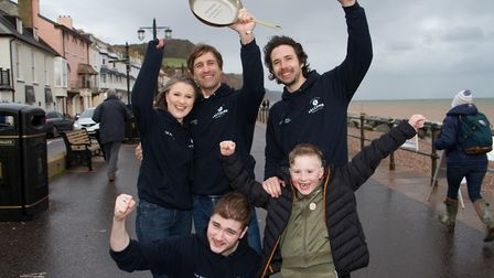 The Marine were this years Top Tossers at the Sid Valley Rotary Club's pancake races Ref shs 08 20TI