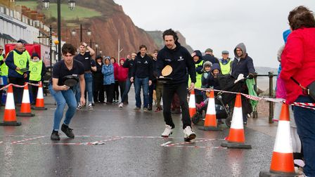Sid Valley Rotary Club's pancake races Ref shs 08 20TI 8855 Picture: Terry Ife