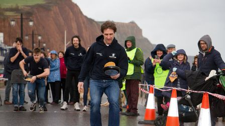 Sid Valley Rotary Club's pancake races Ref shs 08 20TI 8856 Picture: Terry Ife
