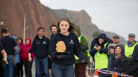 Sid Valley Rotary Club's pancake races Ref shs 08 20TI 8851 Picture: Terry Ife