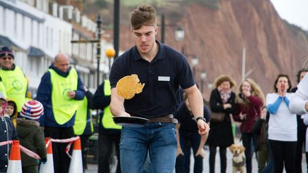 Sid Valley Rotary Club's pancake races Ref shs 08 20TI 8847 Picture: Terry Ife