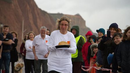 Sid Valley Rotary Club's pancake races Ref shs 08 20TI 8829 Picture: Terry Ife
