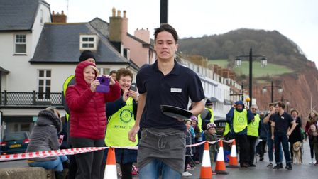 Sid Valley Rotary Club's pancake races Ref shs 08 20TI 8827 Picture: Terry Ife