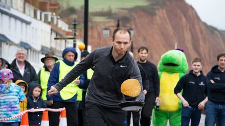 Sid Valley Rotary Club's pancake races Ref shs 08 20TI 8819 Picture: Terry Ife