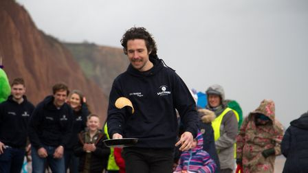 Sid Valley Rotary Club's pancake races Ref shs 08 20TI 8815 Picture: Terry Ife